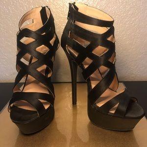 Black Strappy Heel- New